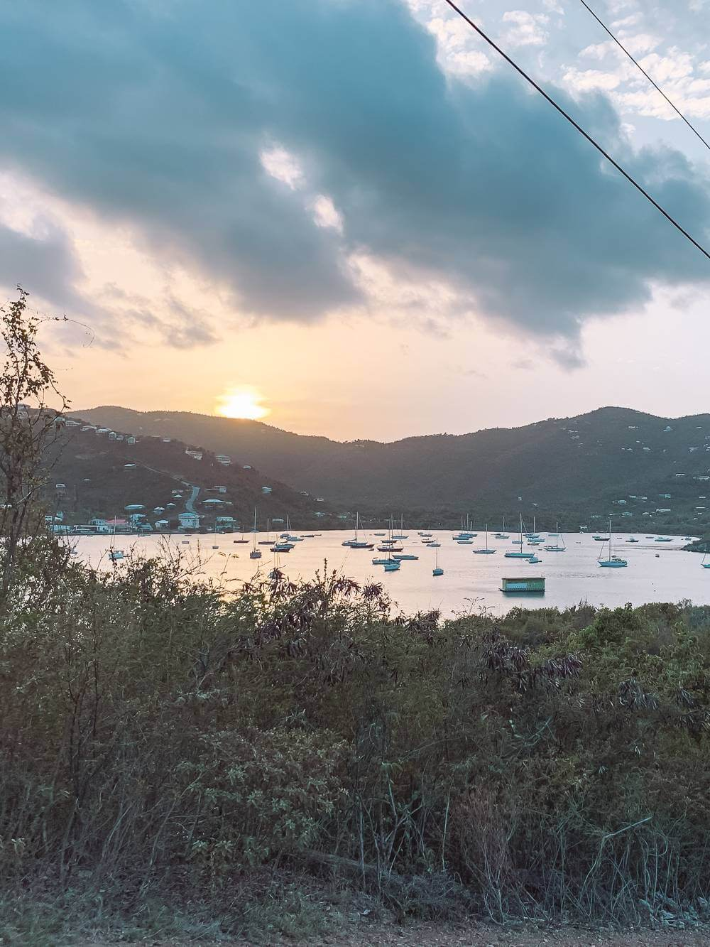 View of Lime Out in Coral Harbor from the hills of St John USVI